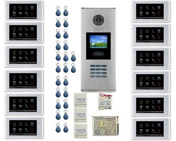 12 Apartment Video Intercom System